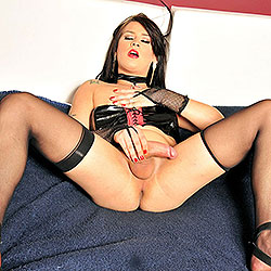 Sexy tranny tease in kinky lingerie.